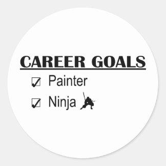 Ninja Career Goals - Painter Round Sticker