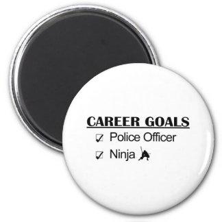 Ninja Career Goals - Police Officer 6 Cm Round Magnet
