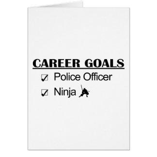 Ninja Career Goals - Police Officer Greeting Card