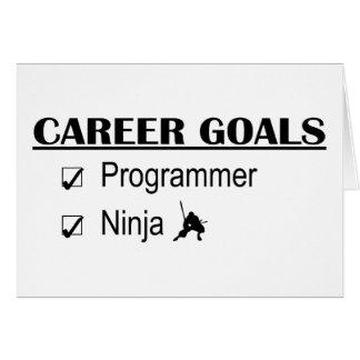Ninja Career Goals - Programmer Card