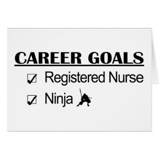 Ninja Career Goals - Registered Nurse Card