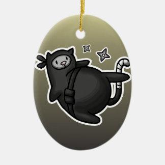 Ninja Cat Christmas Ornament