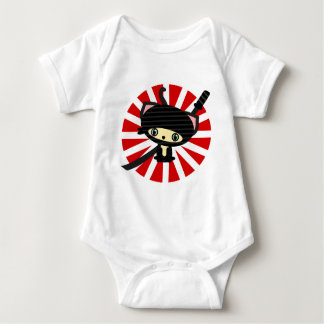 ninja cat kawaii baby bodysuit