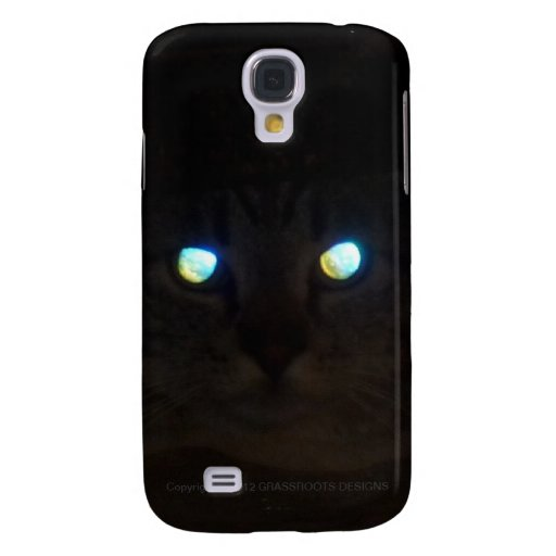 Ninja Cat with Eyes a Glow Samsung Galaxy S4 Covers