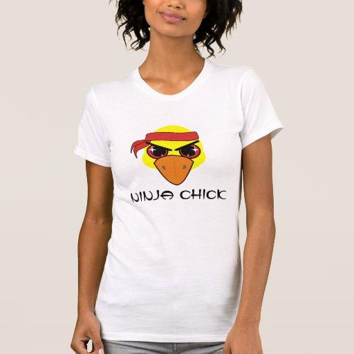 Ninja Chick (with text) Shirts