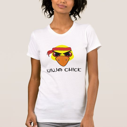 Ninja Chick (with text) T-Shirt