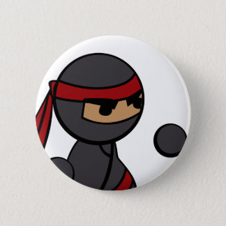 Ninja Close-up 6 Cm Round Badge