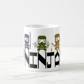 Ninja Colorful Pixel Art Basic White Mug