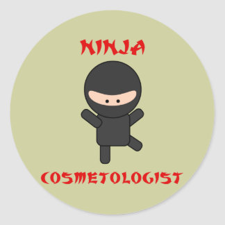 ninja cosmetologist stickers