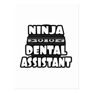 Ninja Dental Assistant Postcard