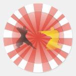Ninja Dreaming Classic Round Sticker
