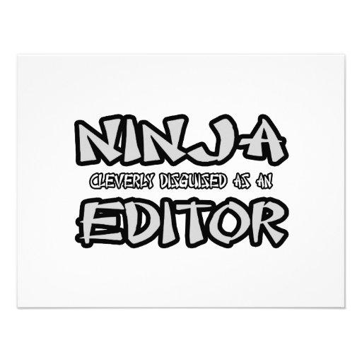 Ninja...Editor Custom Announcement