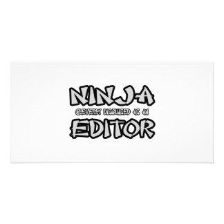 Ninja...Editor Photo Cards