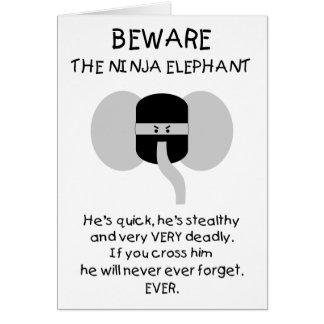 Ninja Elephant! Greeting Card