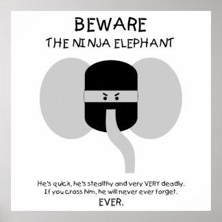 Ninja Elephant! Poster