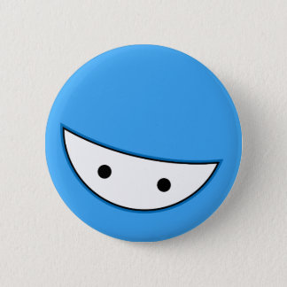 Ninja Face (Blue 6 Cm Round Badge