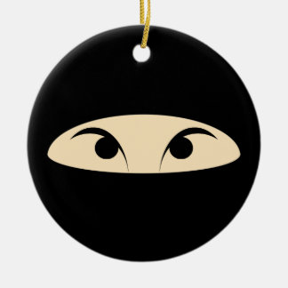 Ninja Face Christmas Ornament