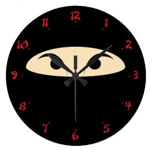 Ninja Face Large Clock