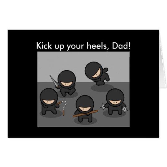 Ninja Father's Day Card