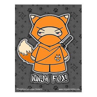 Ninja Fox Postcard