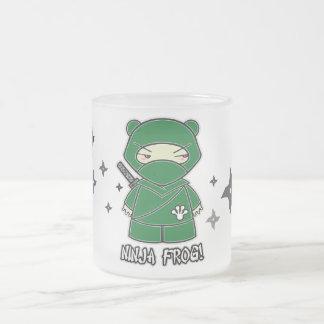 Ninja Frog With Shurikens Mug