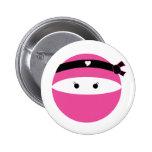 Ninja Girl 6 Cm Round Badge