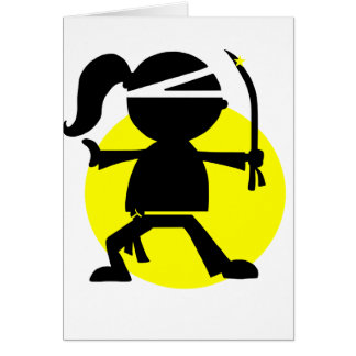 Ninja Girl Card