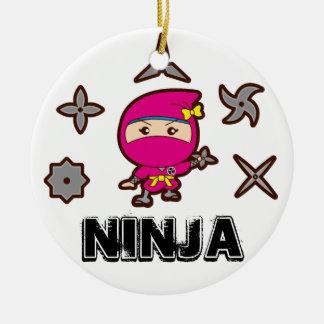 Ninja Girl Christmas Ornament