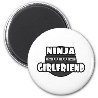 Ninja Girlfriend Refrigerator Magnet