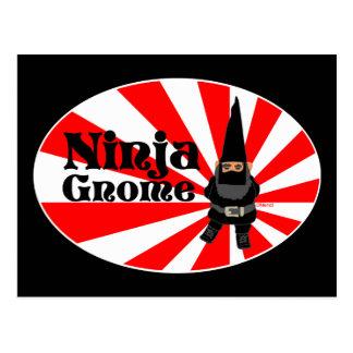 Ninja Gnome Postcard