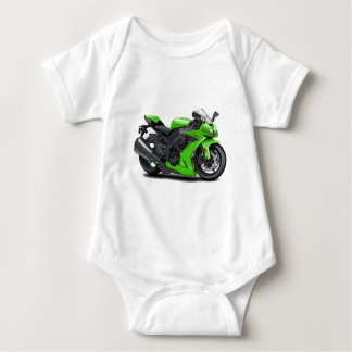 Ninja Green Bike Baby Bodysuit