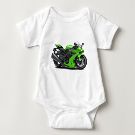 Ninja Green Bike Baby Bodysuit