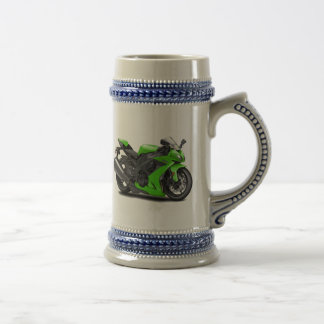 Ninja Green Bike Beer Stein