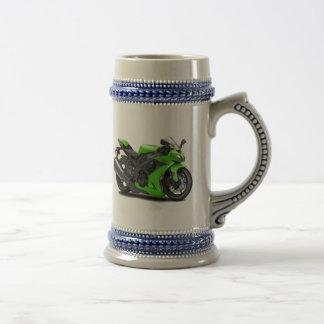 Ninja Green Bike Beer Steins