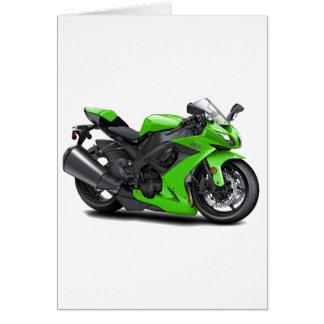Ninja Green Bike Card