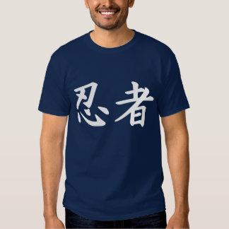 Ninja in Japanese Kanji T-shirts