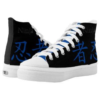 Ninja Kanji High Top Printed Shoes