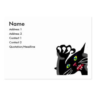 Ninja kitten - a cat with attitude business card