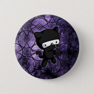 Ninja Kitty 6 Cm Round Badge