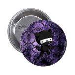 Ninja Kitty 6 Cm Round Badge