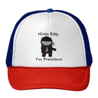 Ninja Kitty for President Cap