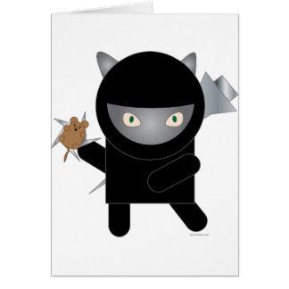 ninja kitty greeting card
