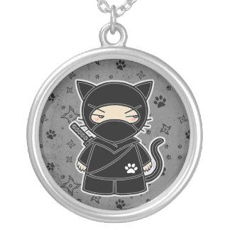 Ninja Kitty! Ninjadorables Grey Necklace