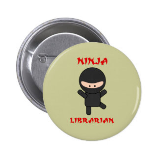 Ninja Librarian (Plain) 6 Cm Round Badge