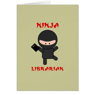 Ninja Librarian with Book Card
