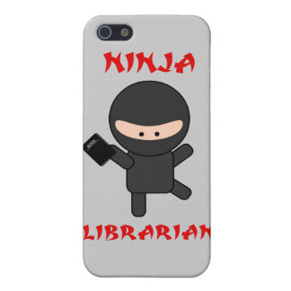 Ninja Librarian With Book iPhone 5/5S Covers