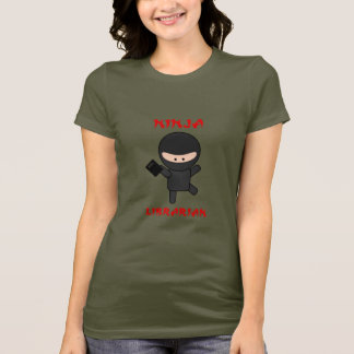 Ninja Librarian with Book T-Shirt