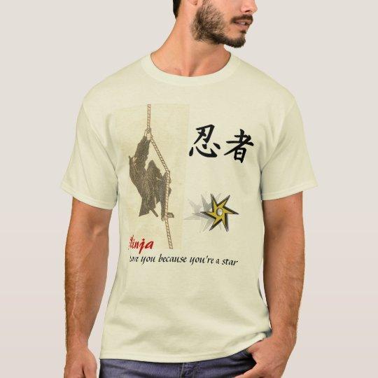 Ninja love you because you're a star T-Shirt