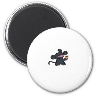 Ninja Monkey Steals the Peach 6 Cm Round Magnet