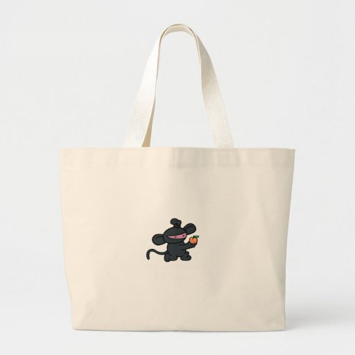 Ninja Monkey Steals the Peach Canvas Bags